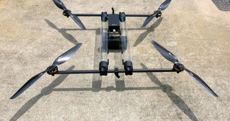 Hydrogen Powered Drone Will Fly For Hours At A Time Multirotor Drones Drone Quadcopter