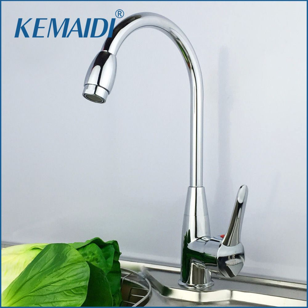 Kemaidi Solid Brass Kitchen Mixer Cold And Hot Kitchen Tap Single