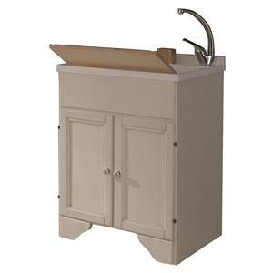 Lavatoi In Ceramica Con Mobiletto.Mobile Lavanderia Lavatoio Decape Bianco Con Lavabo In
