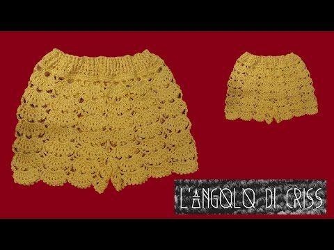 fccc2a491b Pantaloncini all'uncinetto - crochet shorts - pantalon corto de ...
