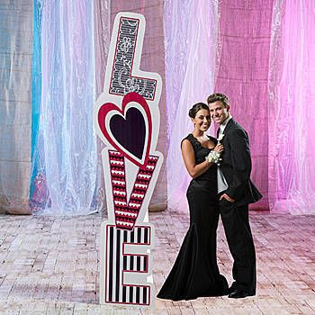 The Love Around Column shows the word love with a variety of patterns in the background of each letter.