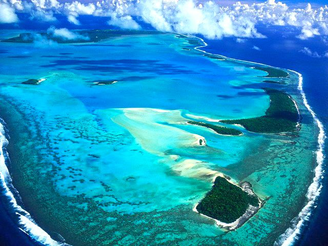 What an amazing aerial view of Aitutaki Island!!  #EtuMoana #Aitutaki #Cook Islands #Holiday #Luxury #Relax