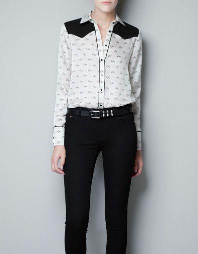 4db936b6b HORSE PRINT BLOUSE - Shirts - Woman - ZARA United States this has a ...