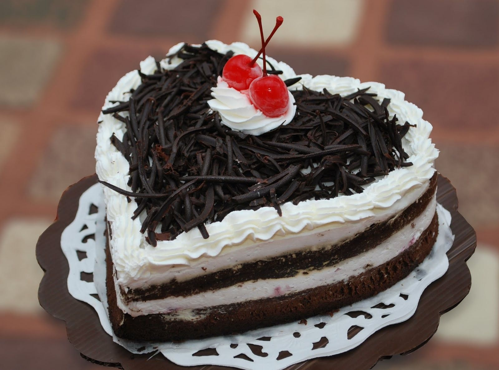 Happy Birthday Chocolate Cake For Friend In Heart Shape Happy