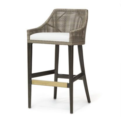 Vincent 24 Counter Stool From Palecek Harwood Frame And Legs In Brown Black Finish Antique Brass Meta Rattan Counter Stools Kitchen Bar Stools Counter Stools