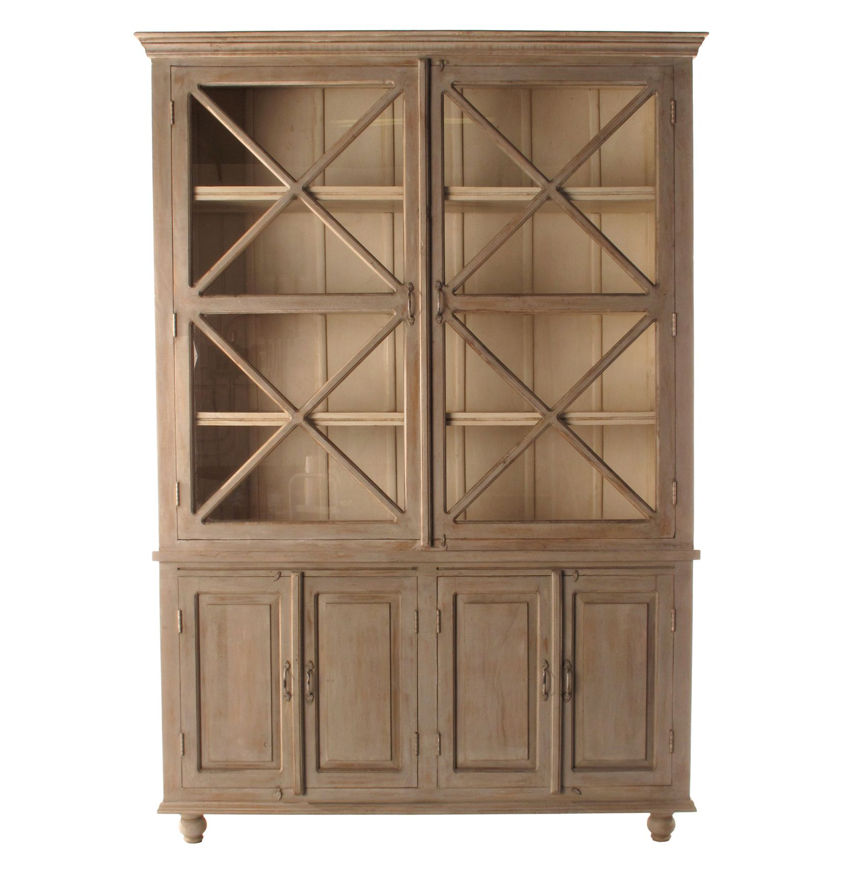 French Country Plantation 2 Door Hutch Cabinet Large From Kathy Kuo Home