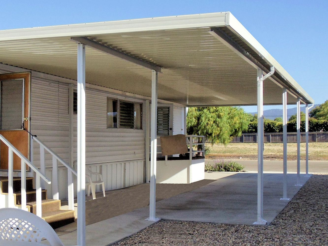 Mobile Home Awnings Patio Covers And Carports By Superior Awning Mobile Home Porch Patio Roof Diy Carport