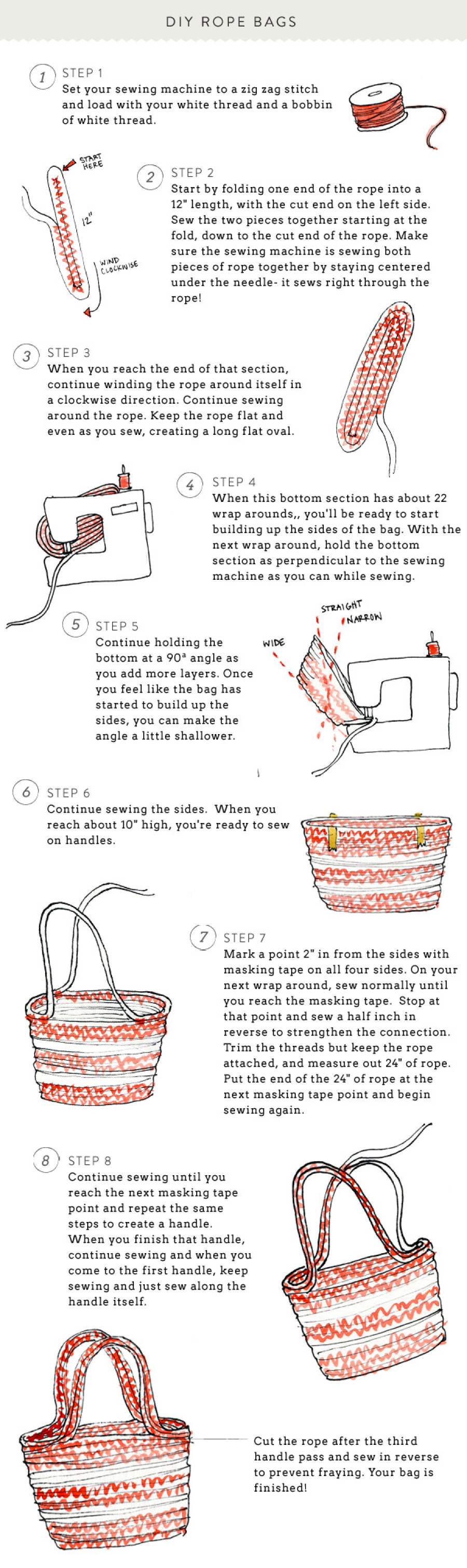 Diy rope bag style me pretty charming diy ideas for Rope designs and more