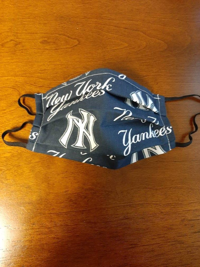 New York Yankees Face Mask Etsy In 2020 Yankees New York Yankees Face Mask