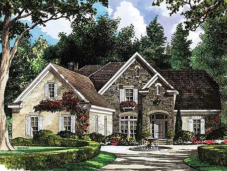 Stone Cottage House Plans plan 5482lk: european country cottage plan   house plans, cottages