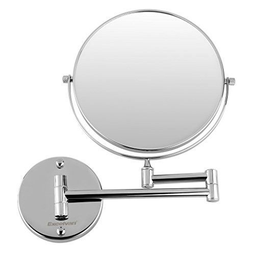 Excelvan 10x Magnification 8 Inch Double-Sided Swivel Wall Mount Makeup Mirror, 12 Inch Extension,...