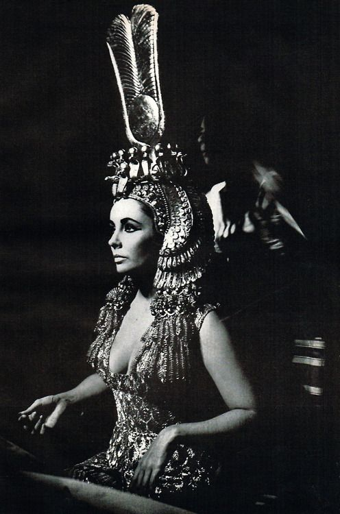 Elizabeth Taylor in the makeup chair for Cleopatra, 1963.