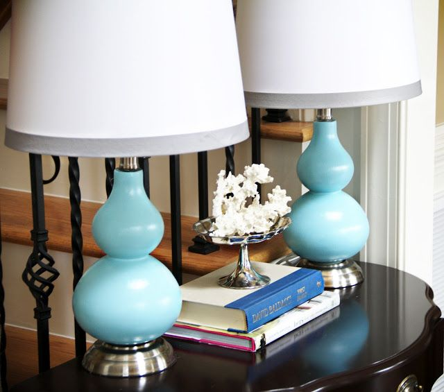 Our Unexpected Journey: *Decorating/Tutorials*  More turquoise Lamps!