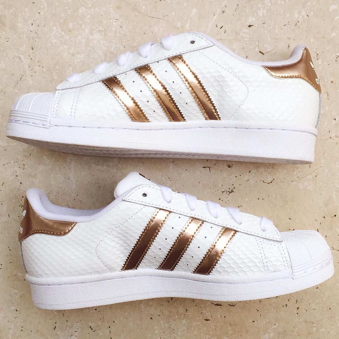 Adidas Superstar White Copper Rose Gold