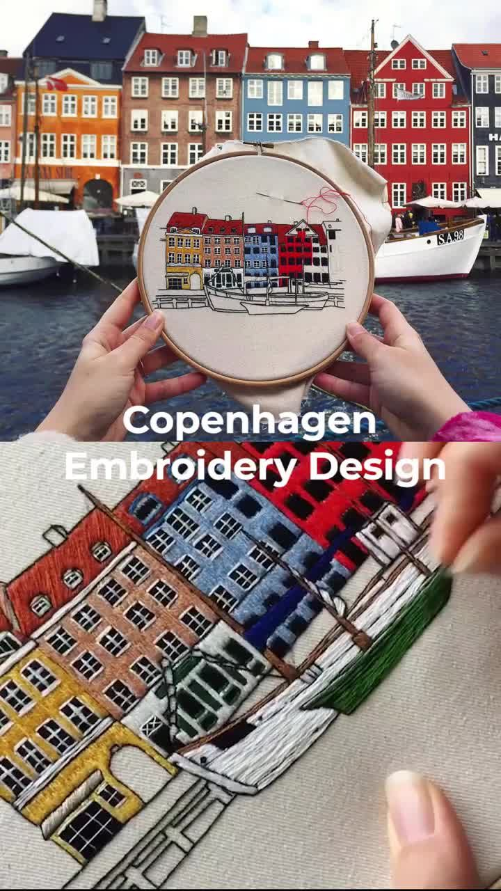 Copenhagen Embroidery Design – Sticken
