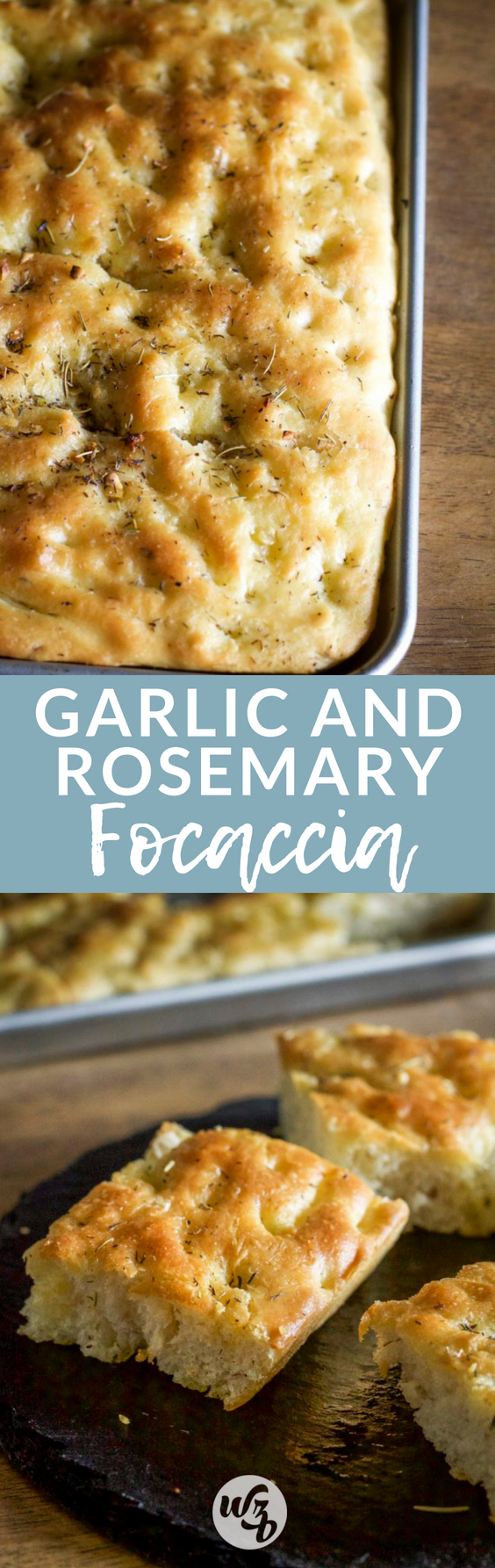 Warm, buttery bread made with olive oil infused rosemary, thyme and garlic. This garlic and rosemar