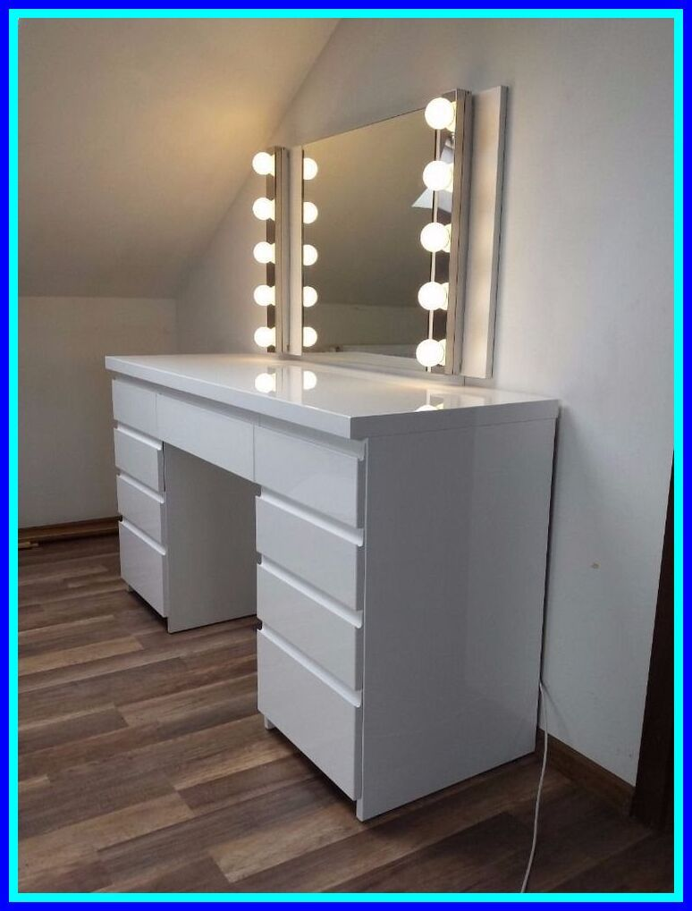 122 Reference Of Vanity Table With Drawers On Both Sides In 2020 Bedroom Dressing Table White High Gloss Dressing Table White Gloss Bedroom
