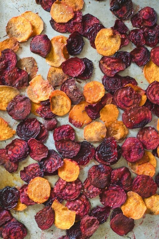 Healthy and Homemade: Beet and Sweet Potato Chips