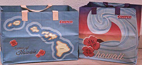 08576e47914 2 Costco Hawaii Reusable Eco Friendly Shopping Bags Tote Hawaiian Islands  Costco http