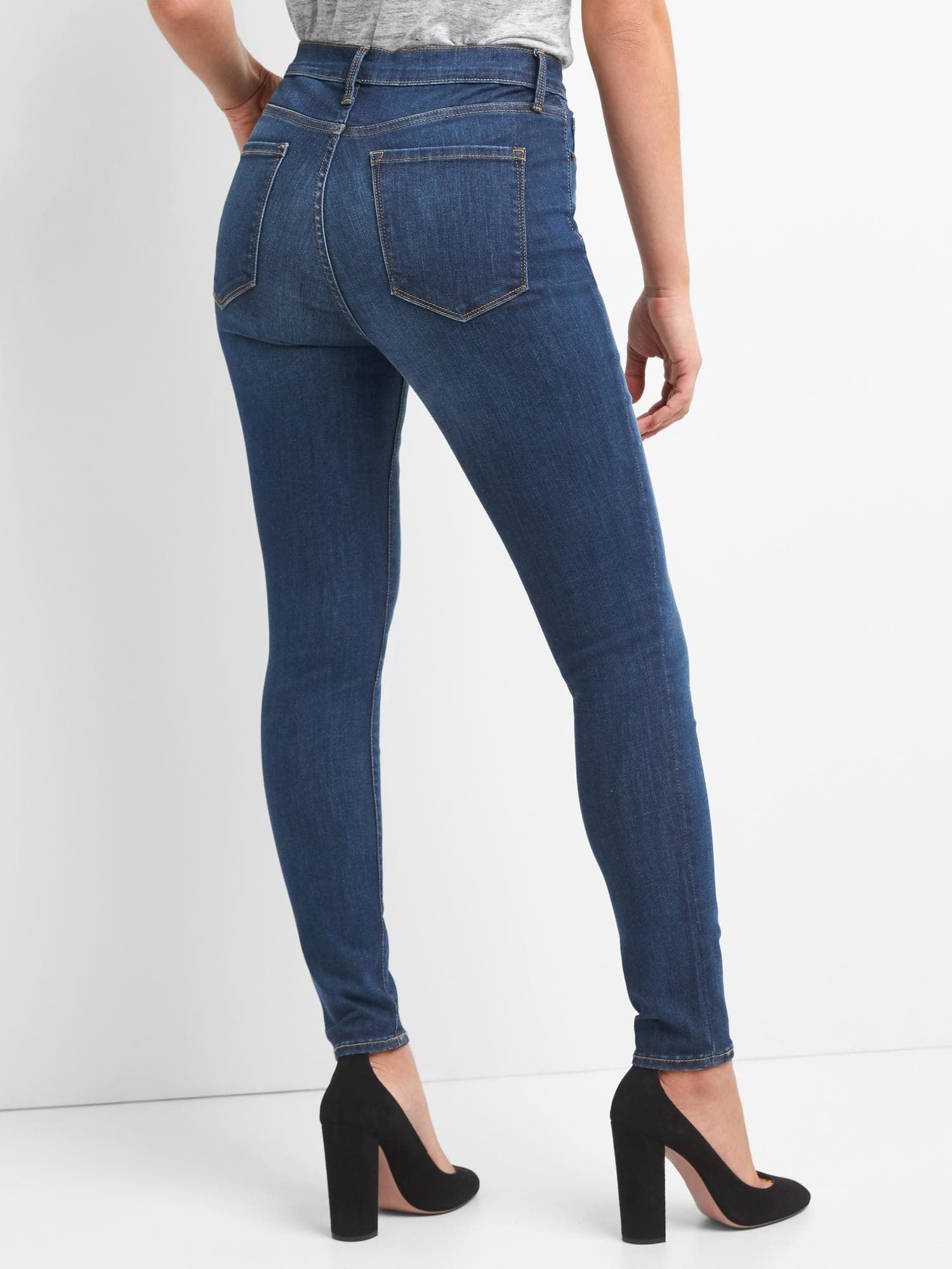 factory outlet various styles on sale Gap Women's Super High Rise True Skinny Jeans In Sculpt (Dark ...