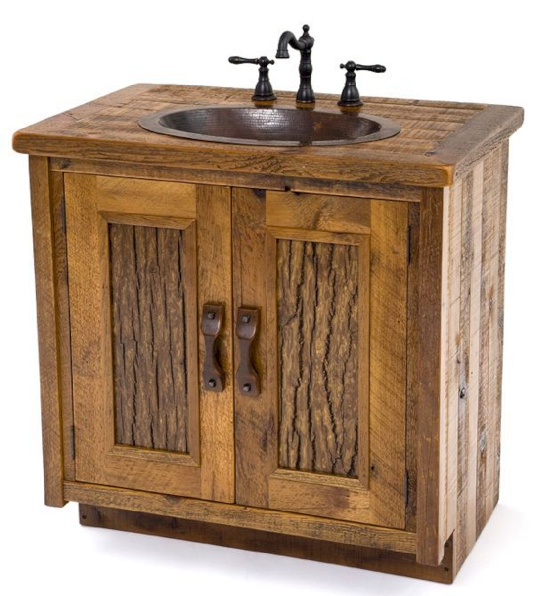 8 Amazing And Unique Bathroom Barnwood Design Ideas Freshouz Com Rustic Bathroom Vanities Rustic Kitchen Cabinets Rustic Vanity