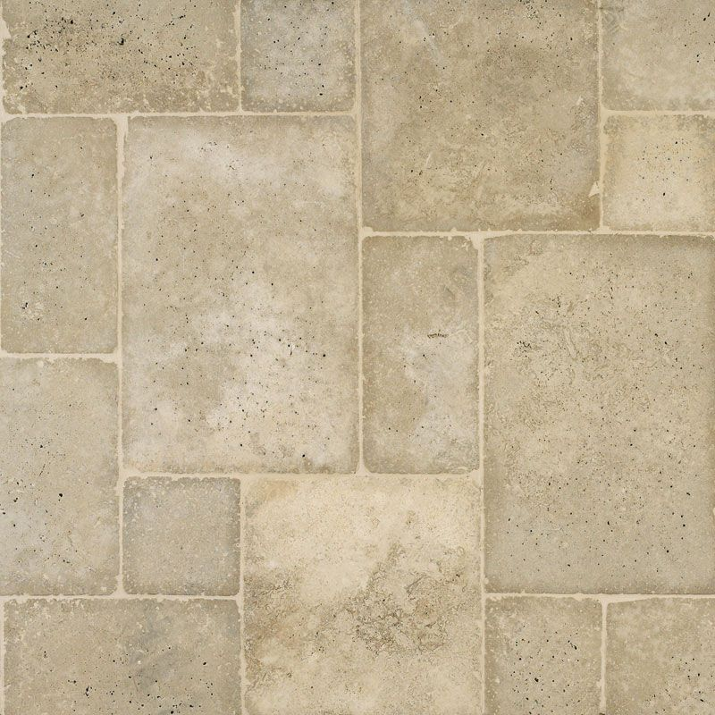 Mexican Noce Tumbled Versailles Pattern - coloring has more greys, slighly cooler in tone than some others pinned.