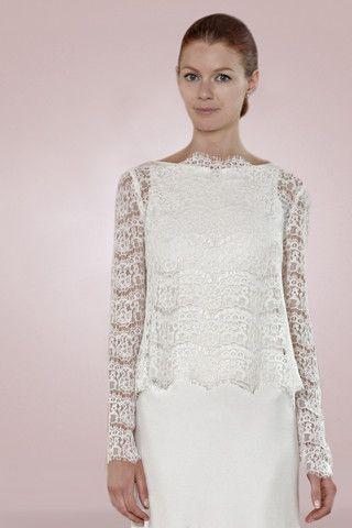 JCKT8 NERU LACE JACKET Wedding Dresses LondonVintage