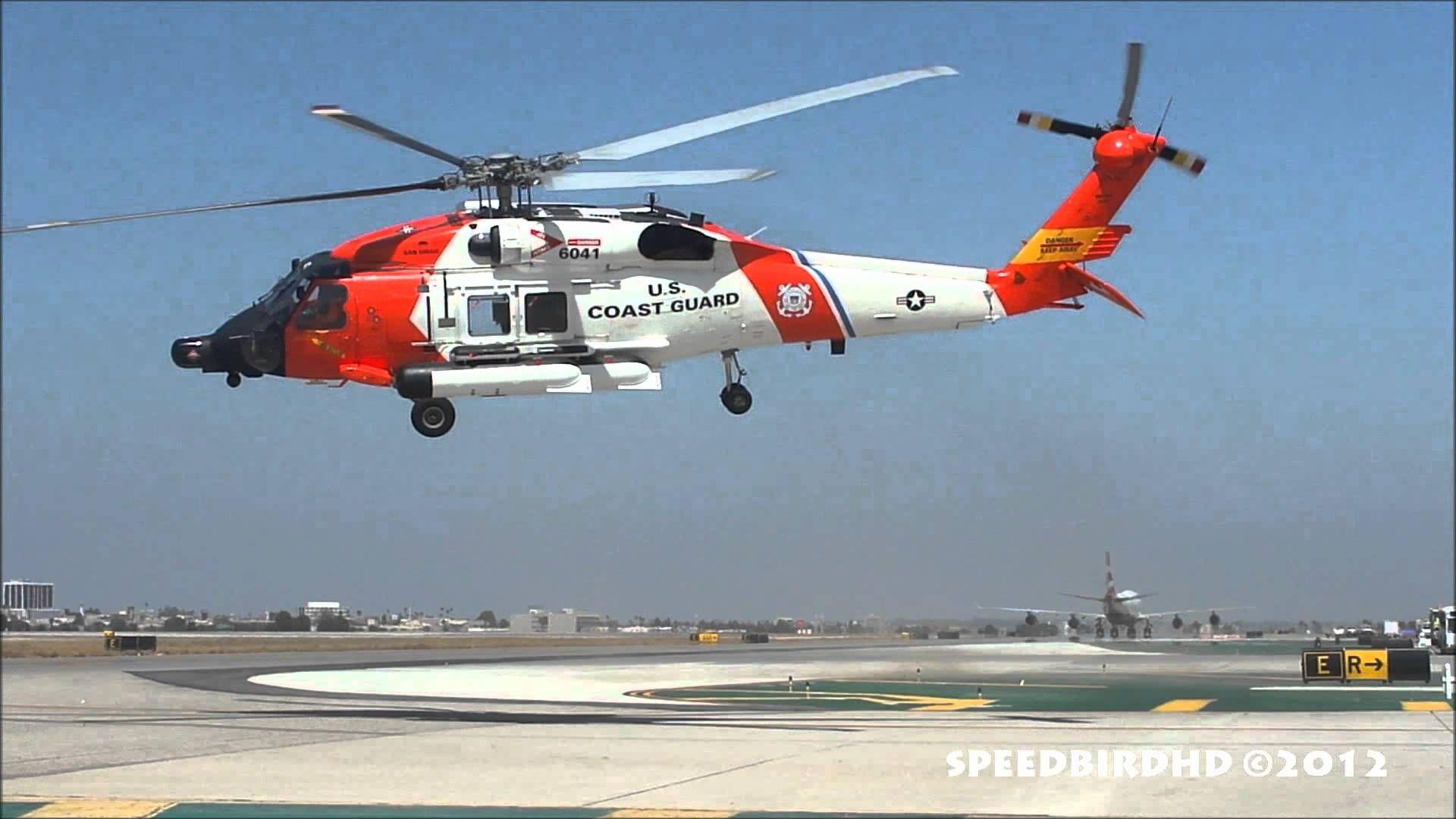 Us Coast Guard Sikorsky Hh 60 Jayhawk Cg 6041 Takeoff Youtube