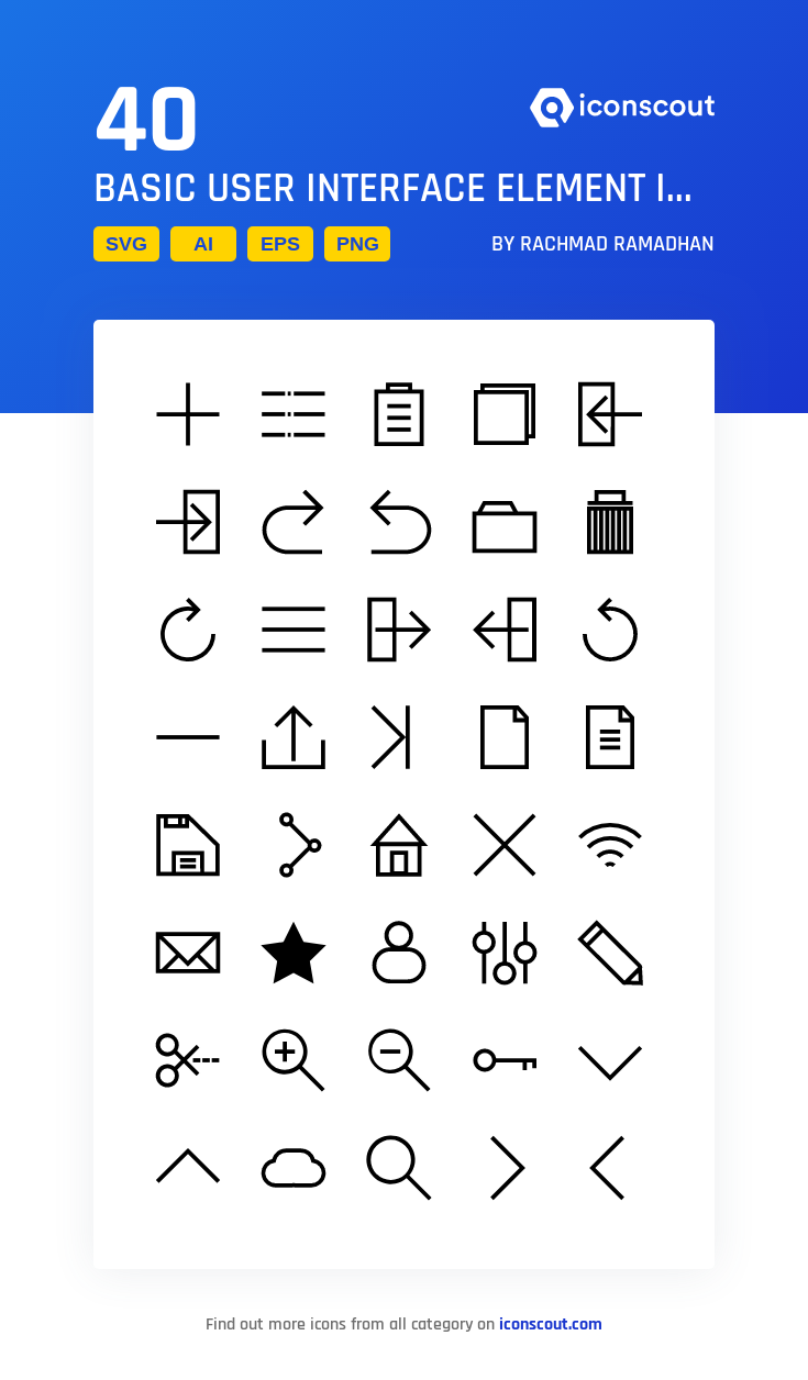 Download Basic User Interface Element Icon Pack Available In Svg Png Eps Ai Icon Fonts User Interface Icon Interface