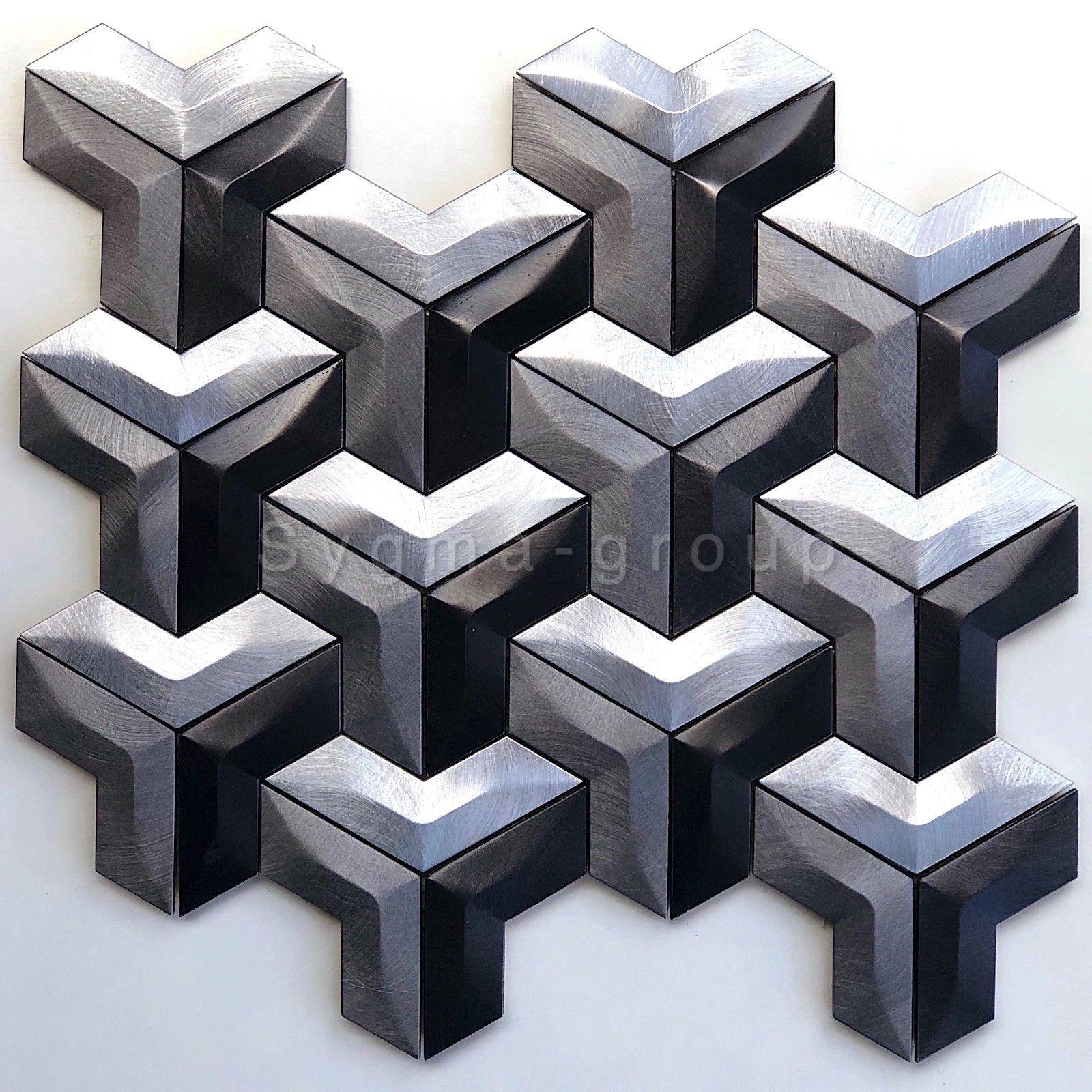 Malla mosaico de aluminio para cocina o baño modelo Daasie ...