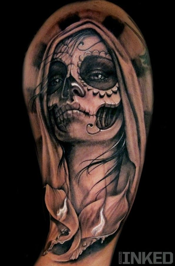 La Santa Muerte | Tattoos very nice | Pinterest | Santa muerte ...