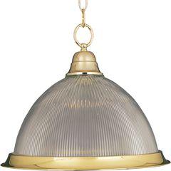 "1 light polished brass finish kitchen light pendant... Size: 16.5""w X 11.5"" H"