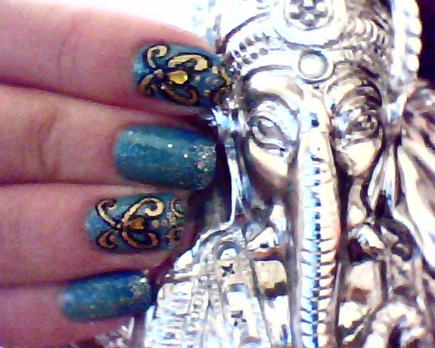 Bollywood nail art !  by dailynails from Nail Art Gallery