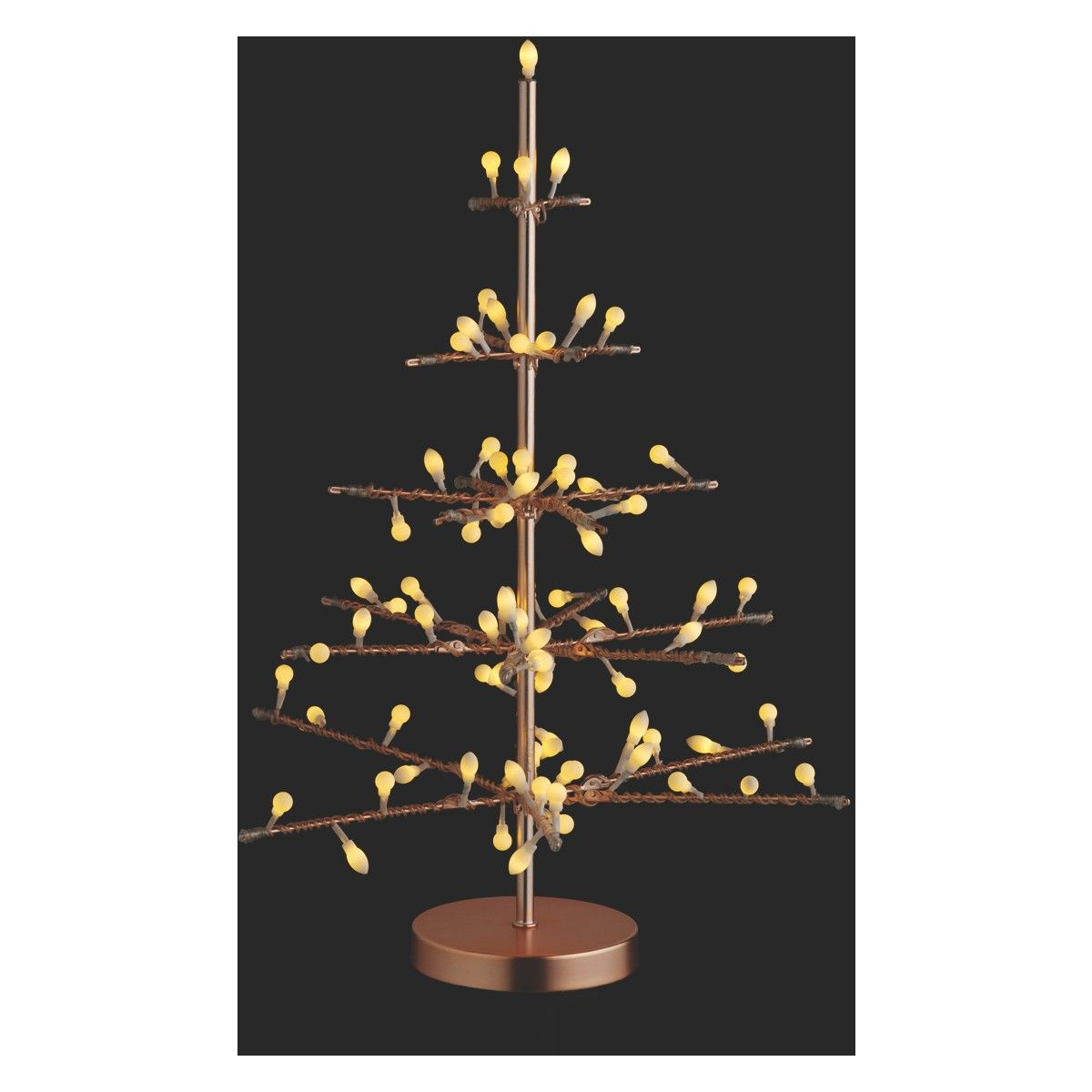 Habitat Christmas Trees: NATALE Round Copper 81 LED Christmas Tree