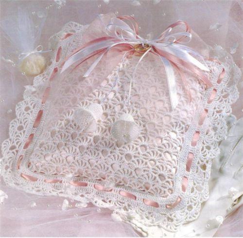 Ring Bearer\'s Pillow Thread Crochet Pattern