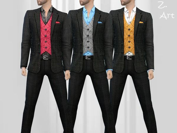 Smart Fashion IX suit by Zuckerschnute20 at TSR • Sims 4 Updates