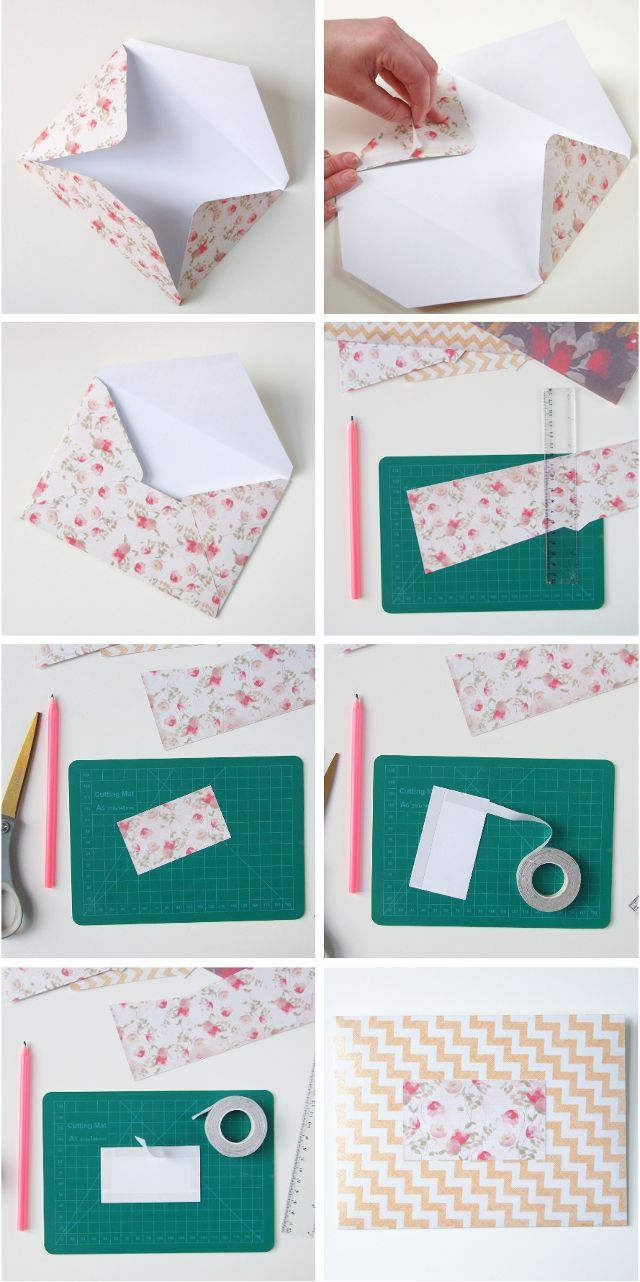 How to sew an envelope on an extract