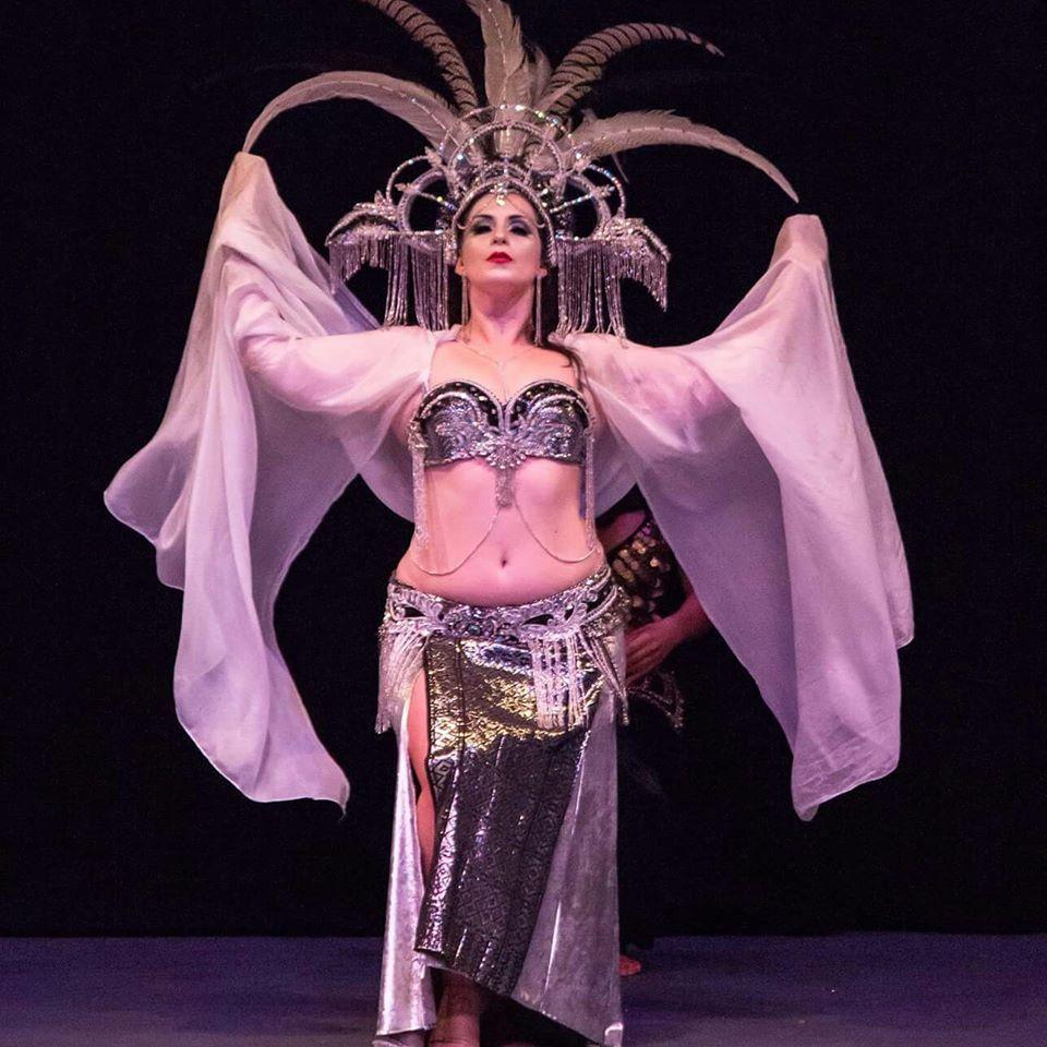 Kalikah Jade Lunar Queen Adelaide Fringe 2015 Headdress Bra Belt