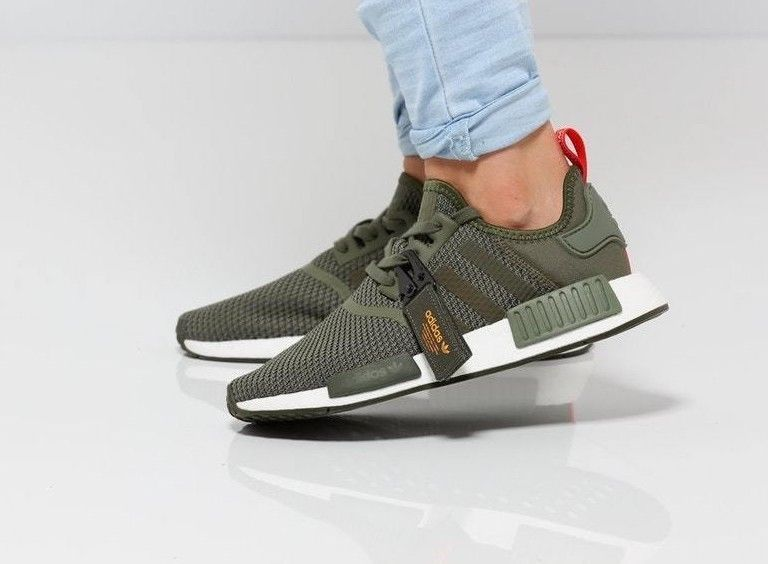 wholesale dealer 93e0c adb78 adidas NMD R1    Night Cargo  Base Green Solar Orange   Mens Trainers   B37620   adidas  RunningShoes