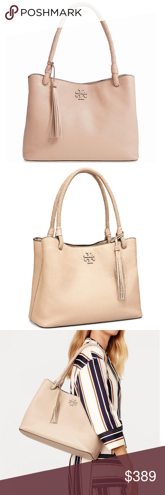 b96d442e6196 NWT Tory Burch Triple-Compartment Tote+Gift Bag 100% Authentic! Brand New