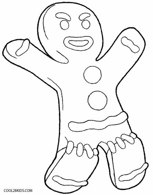 Shrek Coloring Pages Gingerbread Man Coloring Page Coloring