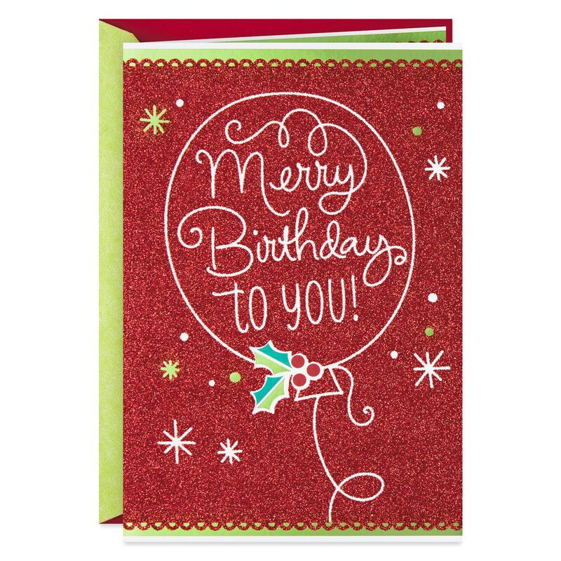 Merry Birthday December 25th Birthday Christmas Card Christmas Birthday Cards Card Making Birthday Birthday Greetings