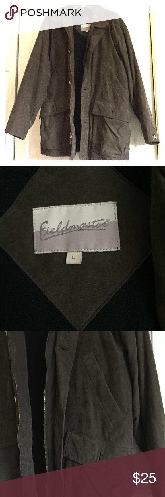 Euc gray coat w fleece lining gray conditioning and winter