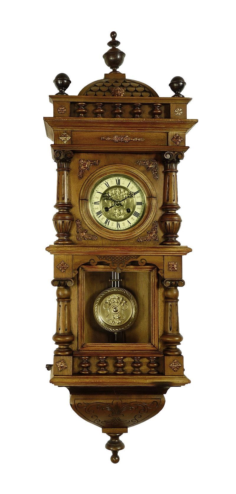 Antique German Black Forest Friedrich Mauthe wall clock at 1900