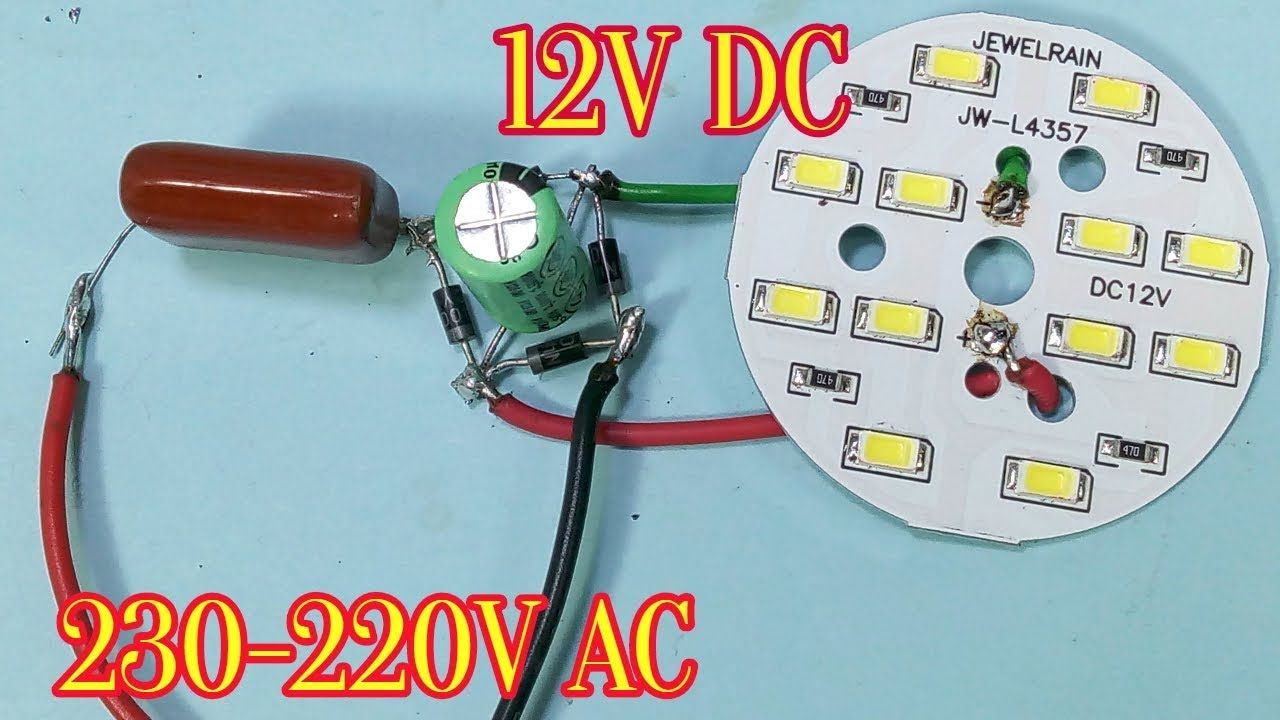 220v Ac To 12v Dc Converter Without Transformer Electronic Circuit Projects Electronics Projects Circuit Projects
