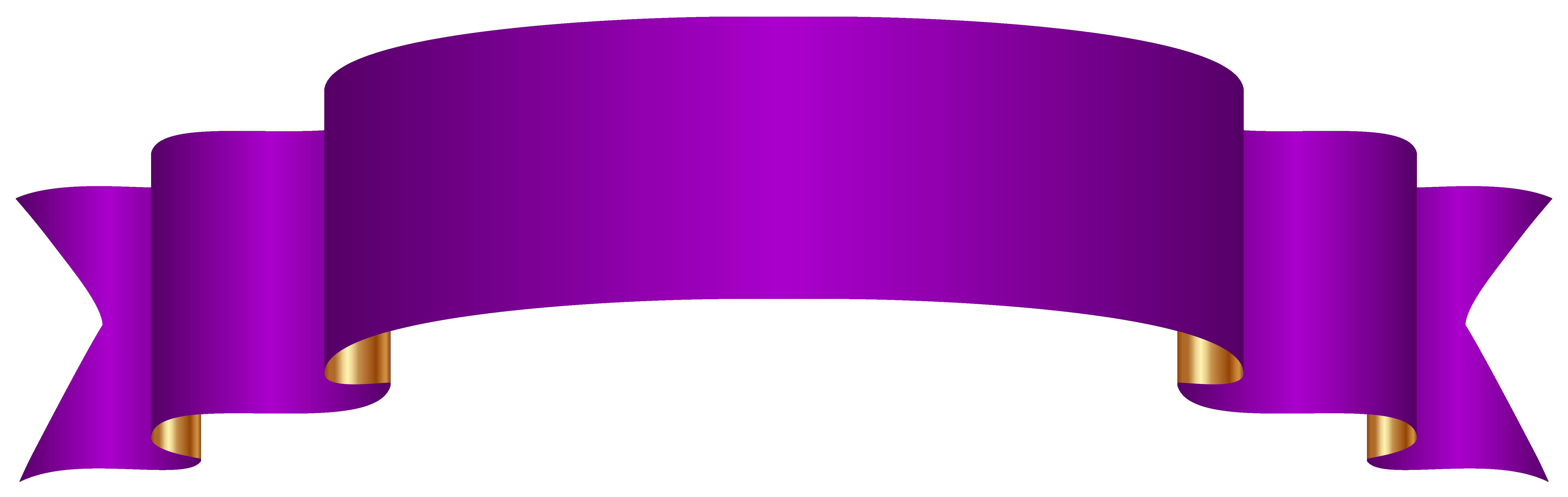 Purple Banner Transparent Png Clip Art Image Ribbon Png Free Clip Art Clip Art