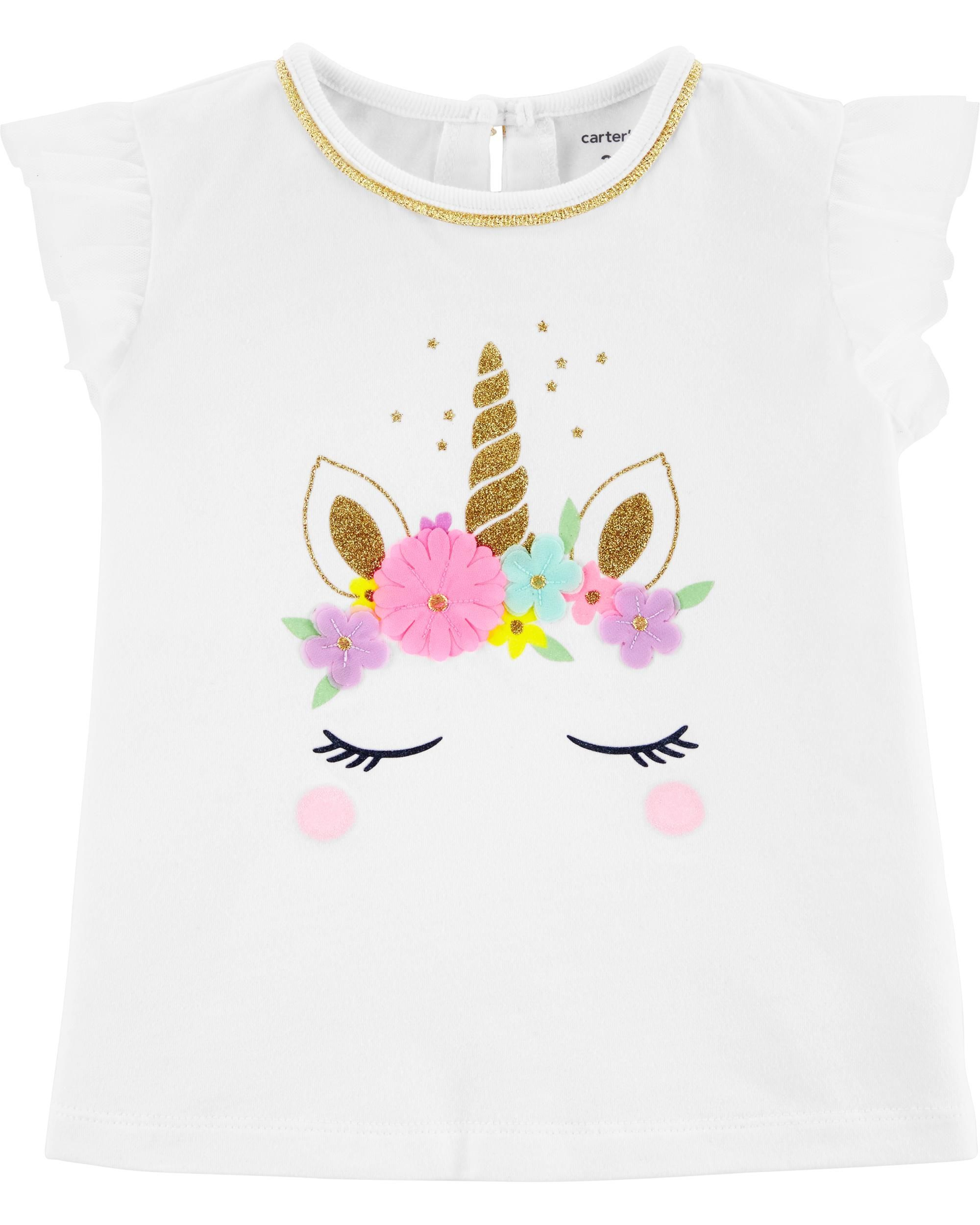 35f62b37659d4 Unicorn Tulle-Sleeve Top | baby girl | Tops, Kids clothing canada ...