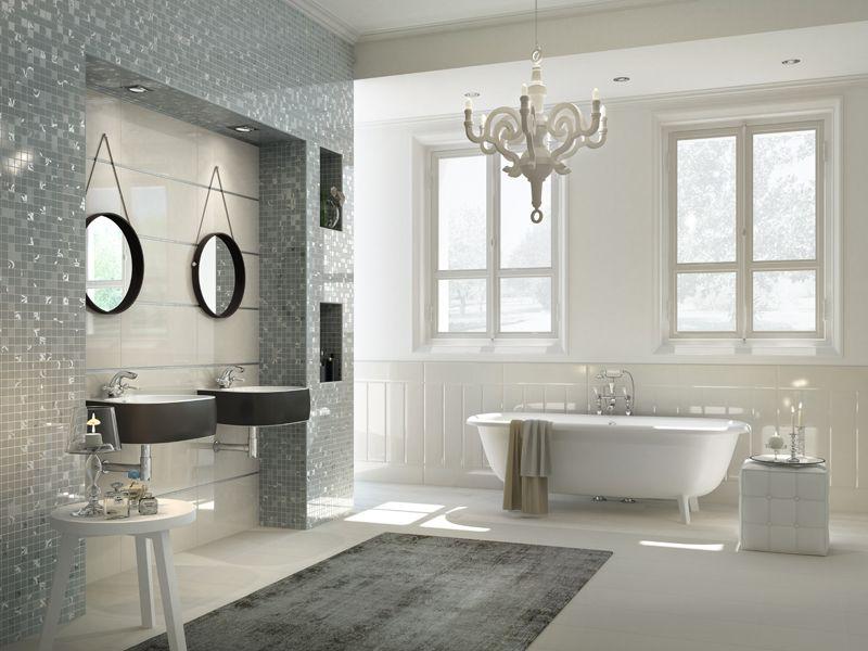 Mozaiek tegels stijlvol chique badkamer bathroom