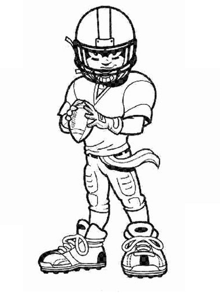 Girl Football Player Coloring Page American Football Is Often Associated With Rugby Beca In 2020 Sports Coloring Pages Football Coloring Pages Coloring Pages For Boys
