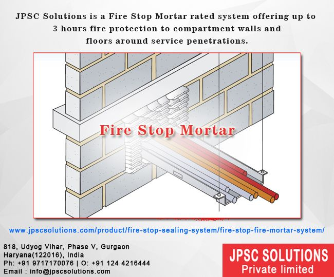 Fire Rated Mortar : Firestop mortar included a restrictive mix of gypsum and